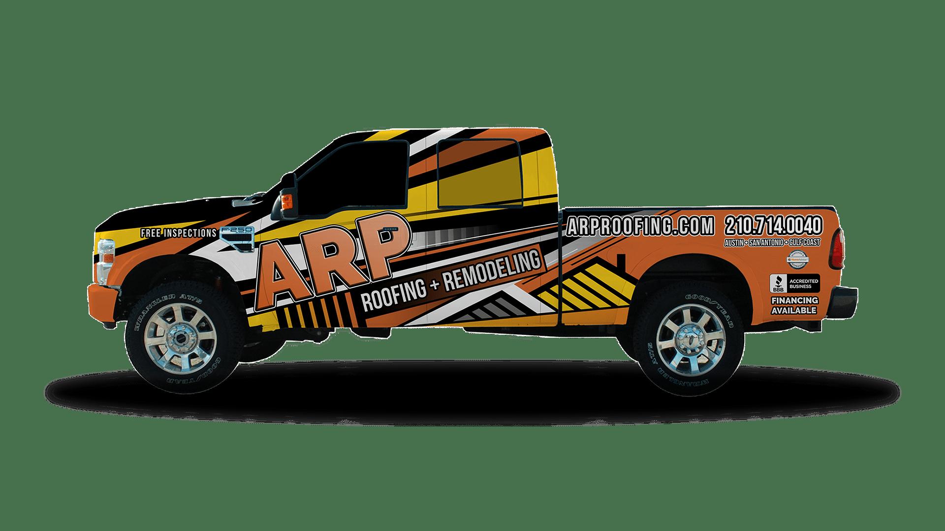 ARP Truck - San Antonio Roofing Contractor